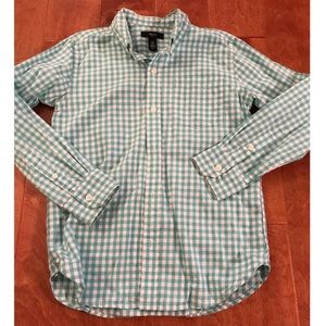 Gap Teal Gingham Button Up